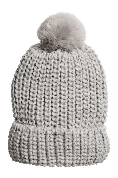 Ribbed hat - Grey - Ladies | H&M GB