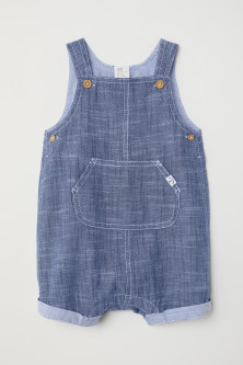 Cotton dungaree shorts