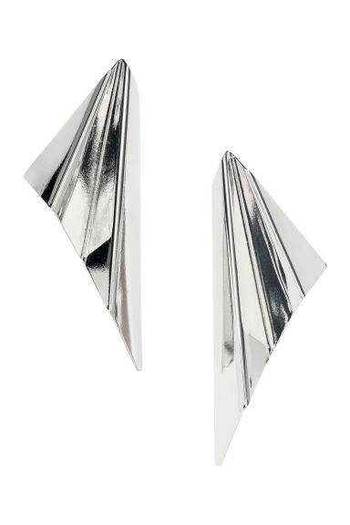 Large earrings - Silver-coloured - Ladies | H&M GB