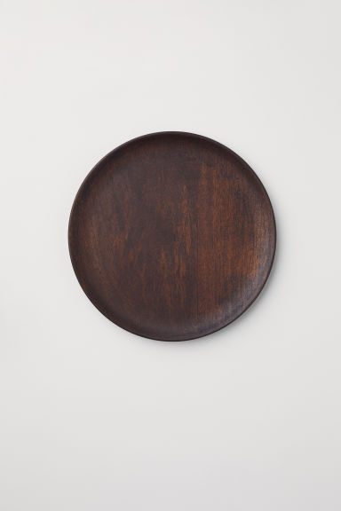 Wooden plate - Dark natural - Home All | H&M IE