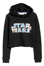 Cropped hooded top - Black/Star Wars - Kids | H&M CN 2
