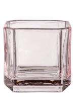 Glass tealight holder - Pink - Home All | H&M CN 1