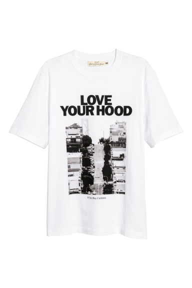 T-shirt con stampa - Bianco/Love Your Hood -  | H&M CH