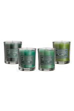 Boxed 4-pack scented candles - Green - Home All | H&M IE 2