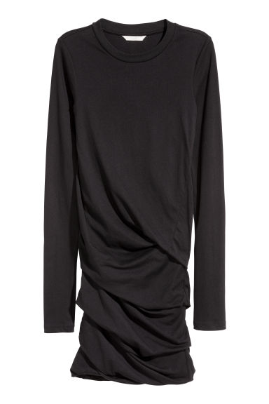 Draped jersey dress - Black - Ladies | H&M IE