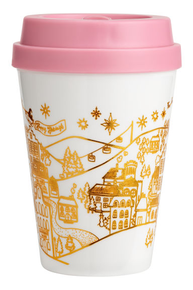 Takeaway mug - White/Christmas motif -  | H&M