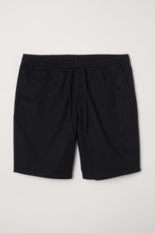 Textured-weave cotton shorts