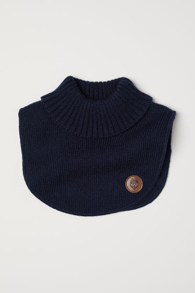 Knitted polo-neck collar - Dark blue - Kids | H&M CN