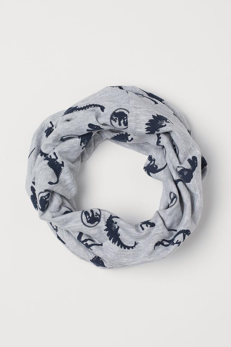 Jersey tube scarf - Grey marl/Jurassic World - Kids | H&M GB