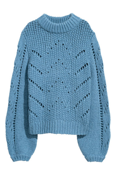 Knitted jumper - Blue - Ladies | H&M GB