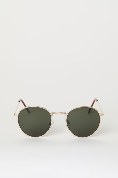 Sunglasses - Gold/Dark green - Men | H&M