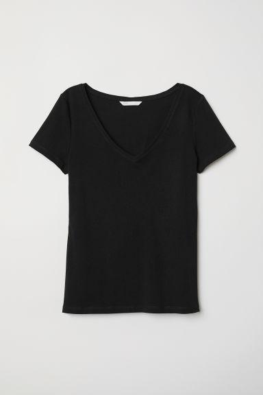 V-neck Jersey Top