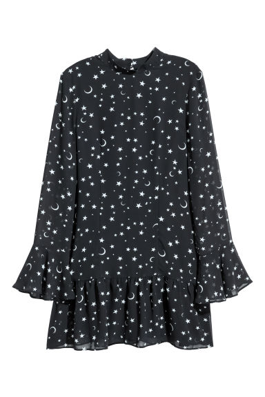 Flounced dress - Dark blue/Stars - Ladies | H&M IE