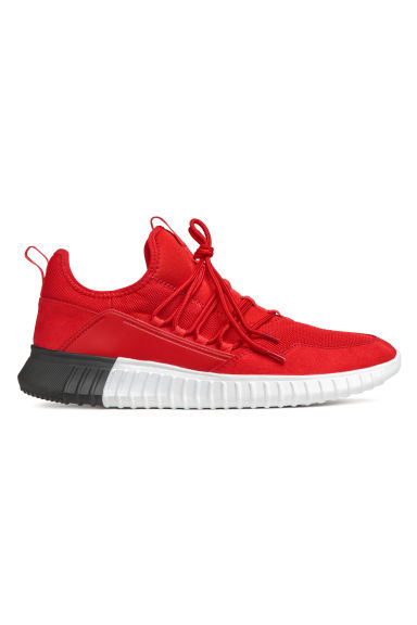 Mesh trainers - Bright red - Men | H&M CN