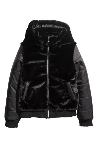 Faux fur jacket - Black - Kids | H&M