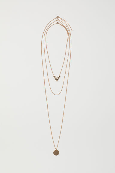 3-pack necklaces - Gold-coloured - Ladies | H&M GB