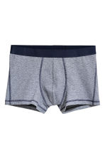 3-pack trunks - Dark blue/Multicoloured - Men | H&M GB 3