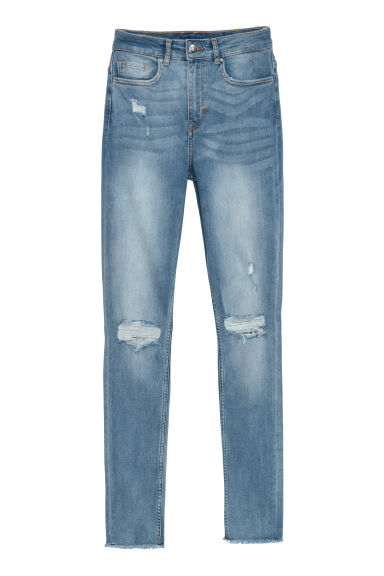 Slim High Trashed Jeans - Light denim blue - Ladies | H&M CN