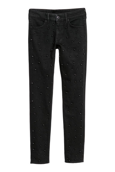 Skinny Regular Jeans - 黑色 -  | H&M