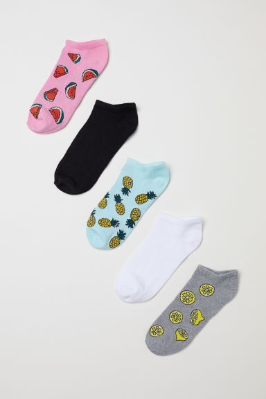 5-pack trainer socks - Grey/Fruit - Ladies | H&M CN