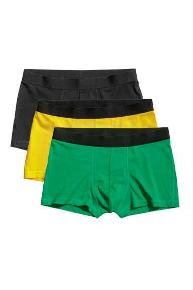 3-pack trunks - Green/Multicoloured - Men | H&M