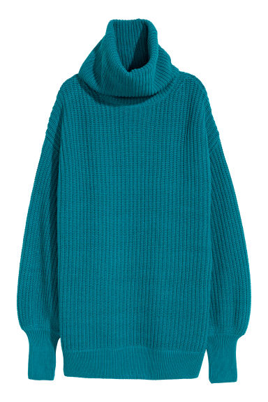 Knitted jumper - Dark turquoise - Ladies | H&M CN