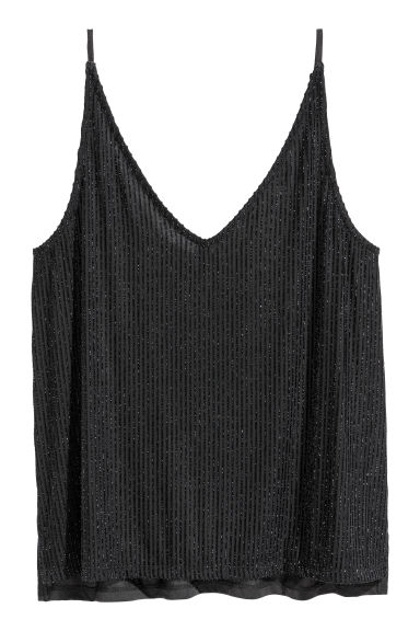 Glittery top - Black - Ladies | H&M