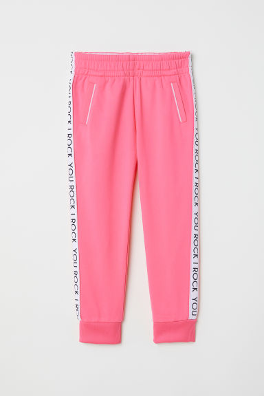 Calças de desporto - Rosa néon/You Rock -  | H&M PT