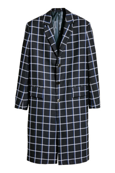 Checked coat Model