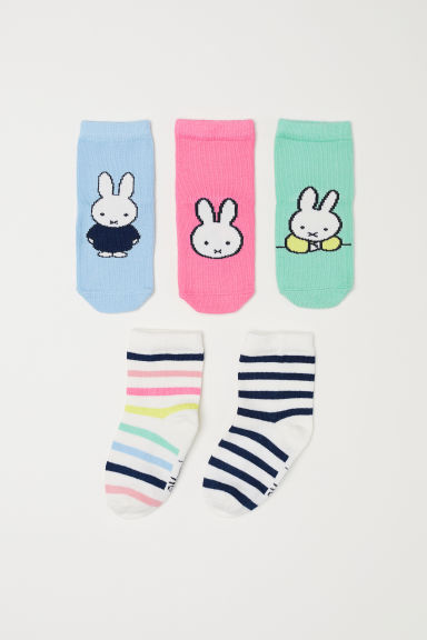 5-pack socks - Pink/Miffy - Kids | H&M CN