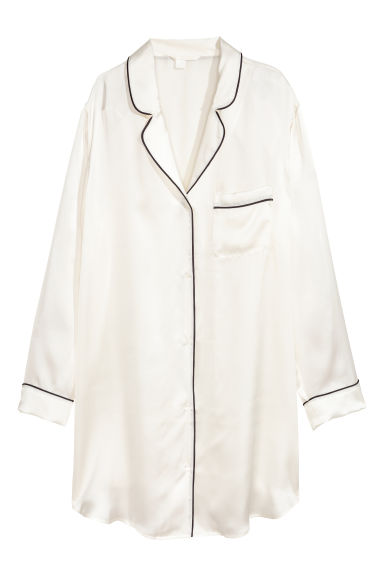Silk nightshirt - Natural white -  | H&M