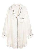 Silk nightshirt - Natural white - Ladies | H&M IE 2