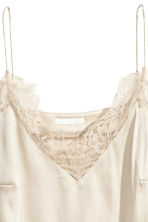 Top in satin - Beige chiaro -  | H&M IT 3