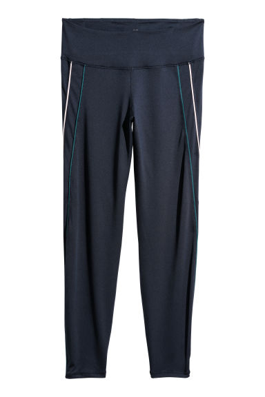 H&M+ Sports tights - Dark blue - Ladies | H&M