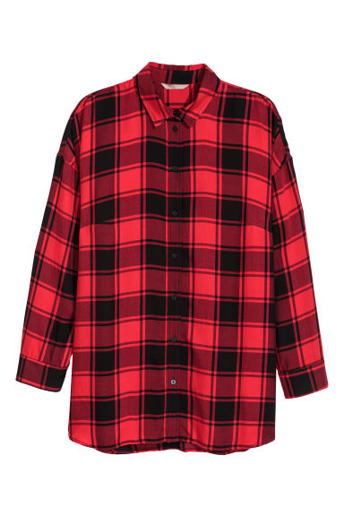 H&M+ Shirt - Red/Black checked - Ladies | H&M IE