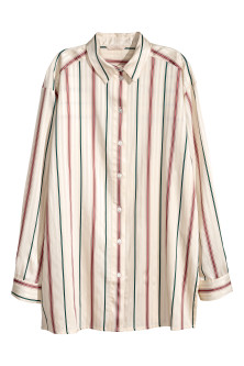 Shirt with woven stripes