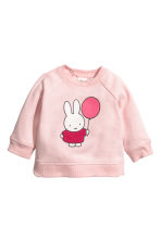 Sweatshirt and joggers - Light pink/Miffy - Kids | H&M GB 2