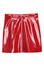 Patent skirt - Red - Ladies | H&M IE 2