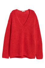 Knitted wool-blend jumper - Red - Ladies | H&M CN 2