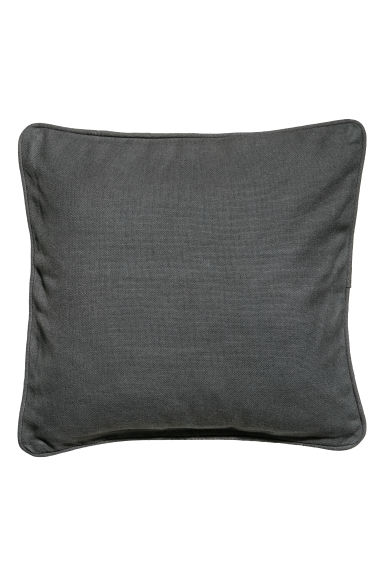 Cushion cover with piping - Anthracite grey - Home All | H&M IE