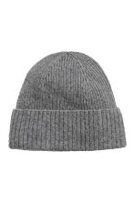 Ribbed cashmere hat - Grey marl - Men | H&M CN 1