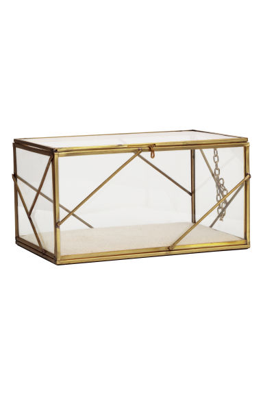 Large clear glass box - Gold-coloured - Home All | H&M GB