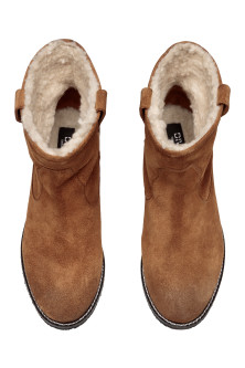 Warme Velourslederboots