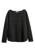Boat-necked jersey top - Black - Ladies | H&M CN 2