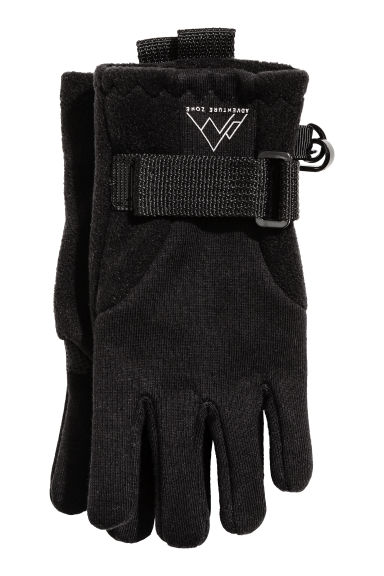Windproof fleece gloves - Black - Kids | H&M