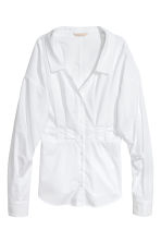 V-neck cotton blouse - White - Ladies | H&M 2