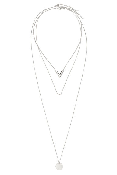 3-pack necklaces - Silver-coloured - Ladies | H&M IE