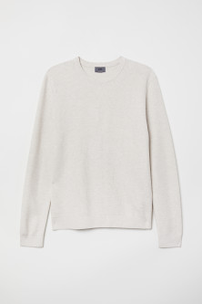 Knitted pima cotton jumper