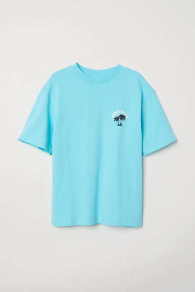 T-shirt with a motif - Turquoise/Sumr Daze - Kids | H&M CN
