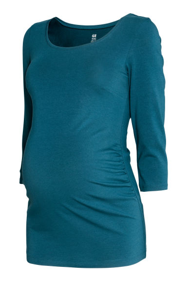MAMA Jersey top - Teal blue - Ladies | H&M CN